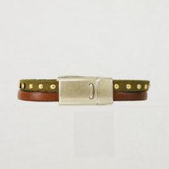 Bracelet femme  cuir marron kaki belle marianne 03