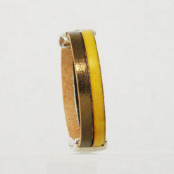 Bracelet femme  cuir jaune bellemarianne04