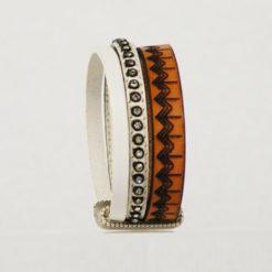 bracelet femme cuir blanc et naturel gravé tannage naturel ethnique 12