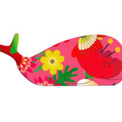 Magnet baleine imprimé fleur anti-uv gravé de fabrication française petite déco aimanté maison fantaisie et unique