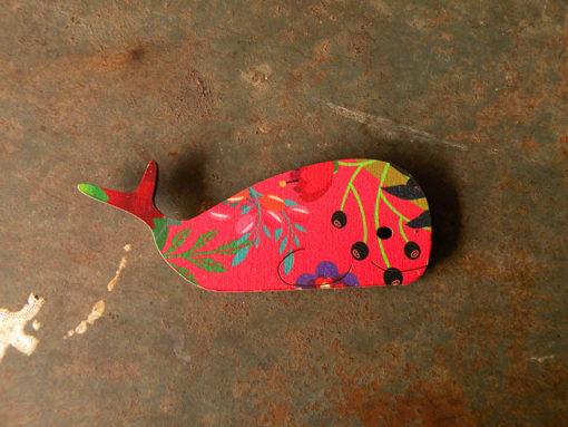 Magnet baleine imprimé Rosy , anti UV