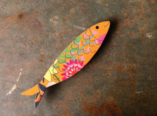 Magnet Sardine made in France motif soledad , découpé et gravé à la découpe laser