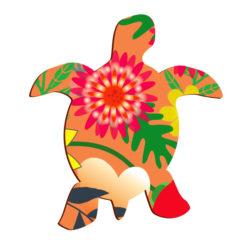 Magnet tortue imprimé fleur anti-uv, petite déco frigo aimantée unique originale