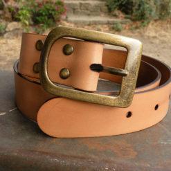 ceinture femme en cuir naturel