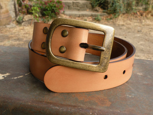 ceinture large femme en cuir naturel made in gard