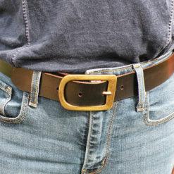 ceinture cuir noire femme