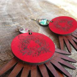 Boucles en cuir Quitèri n°5 made in France de fabrication artisanale avec des inspirations exotiques