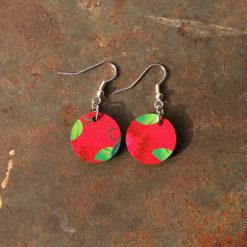 Boucles d' oreilles légères et colorées made in France.