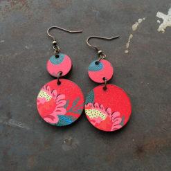 Boucles d' oreilles Fani motif Gypsy originales légères et colorées. Made in France