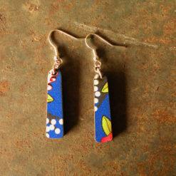 Boucles d' oreilles Célia made in France, zéro déchet.