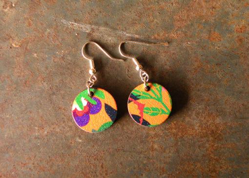 Boucles d' oreilles Luna made in France, zéro déchet.