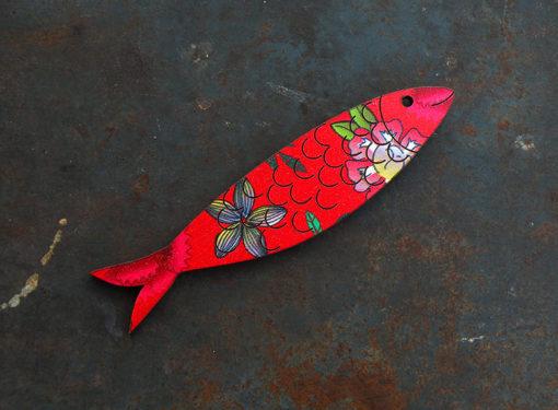 Magnet Sardine made in France motif gypsy , découpé et gravé à la découpe laser