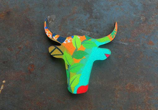 magnet made in Francetête de taureau motif soledad imprimé anti-uv .