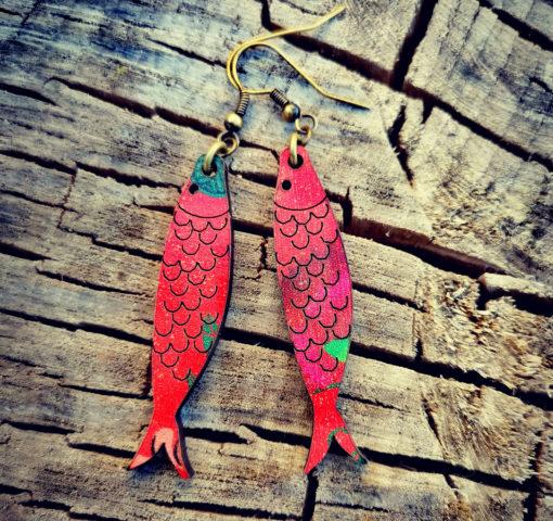 Boucles d' oreilles qui sentent bon le bord de mer et les vacances. Fabriquées dans le sud de la France , dans le Gard