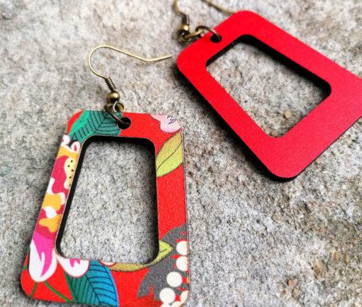 Boucles d' oreilles Vice versa gypsy fabriquées en France imprimées avec un motif original aux couleurs du sud et plein de pep's